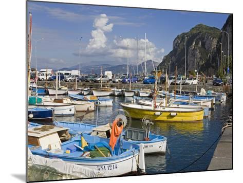 Fishing Boats in the Port of Marina Grande, Capri Island, Bay of Naples, Campania, Italy, Europe-Richard Cummins-Mounted Photographic Print