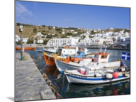 Fishing Boats in Mykonos Town, Island of Mykonos, Cyclades, Greek Islands, Greece, Europe-Richard Cummins-Mounted Photographic Print
