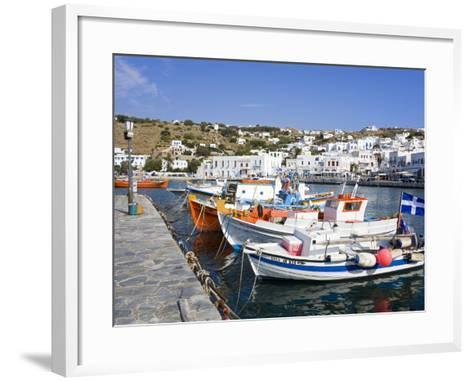 Fishing Boats in Mykonos Town, Island of Mykonos, Cyclades, Greek Islands, Greece, Europe-Richard Cummins-Framed Art Print