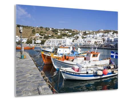 Fishing Boats in Mykonos Town, Island of Mykonos, Cyclades, Greek Islands, Greece, Europe-Richard Cummins-Metal Print