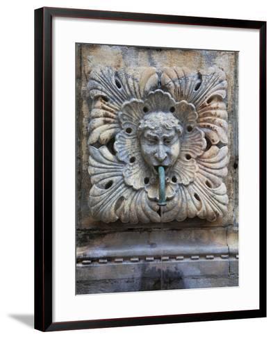 Detail of Onofro's Fountain, Stradun, Dalmatia, Croatia, Europe-Martin Child-Framed Art Print