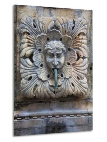 Detail of Onofro's Fountain, Stradun, Dalmatia, Croatia, Europe-Martin Child-Metal Print