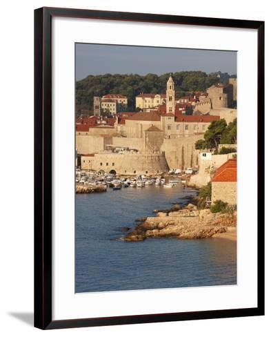 Old Town in Early Morning Light, UNESCO World Heritage Site, Dubrovnik, Croatia, Europe-Martin Child-Framed Art Print