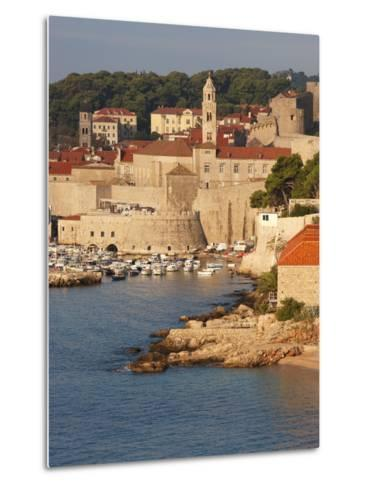 Old Town in Early Morning Light, UNESCO World Heritage Site, Dubrovnik, Croatia, Europe-Martin Child-Metal Print