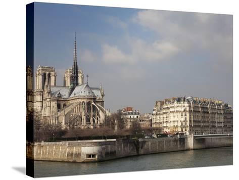 Ile De La Cite and Notre Dame Cathedral, Paris, France, Europe-Martin Child-Stretched Canvas Print