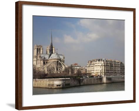Ile De La Cite and Notre Dame Cathedral, Paris, France, Europe-Martin Child-Framed Art Print