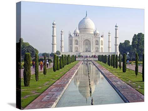 Taj Mahal, UNESCO World Heritage Site, Agra, Uttar Pradesh State, India, Asia-Gavin Hellier-Stretched Canvas Print
