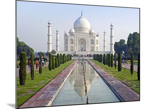 Taj Mahal, UNESCO World Heritage Site, Agra, Uttar Pradesh State, India, Asia-Gavin Hellier-Mounted Photographic Print