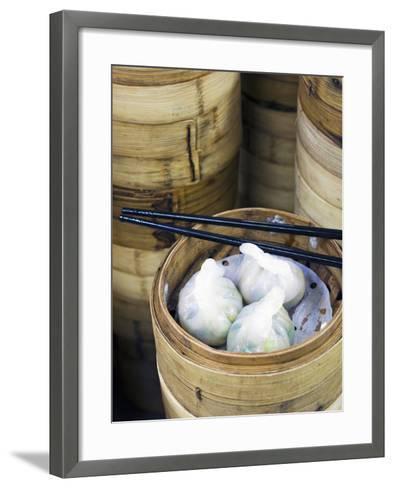 Dim Sum Preparation in a Restaurant Kitchen in Hong Kong, China, Asia-Gavin Hellier-Framed Art Print