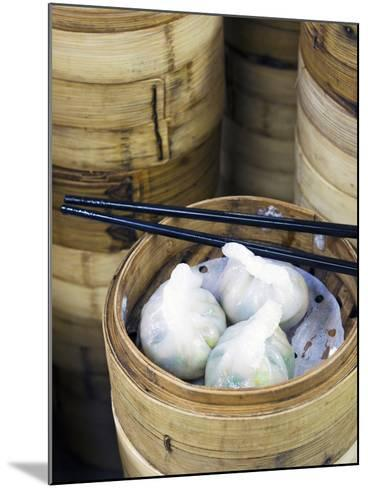 Dim Sum Preparation in a Restaurant Kitchen in Hong Kong, China, Asia-Gavin Hellier-Mounted Photographic Print