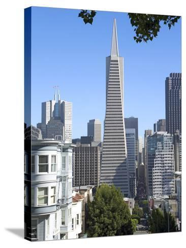 Trans America Building, San Francisco, California, United States of America, North America-Gavin Hellier-Stretched Canvas Print