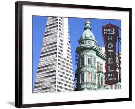Trans America Building and Victorian Architecture, San Francisco, California, United States of Amer-Gavin Hellier-Framed Art Print