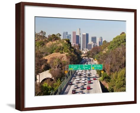 Pasadena Freeway (Ca Highway 110) Leading to Downtown Los Angeles, California, United States of Ame-Gavin Hellier-Framed Art Print