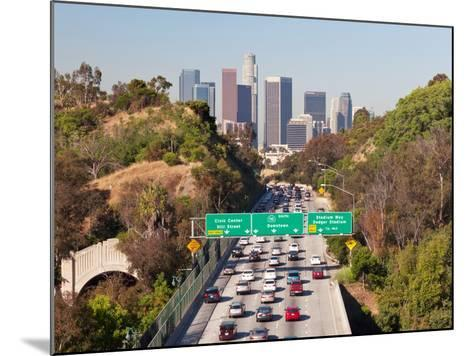 Pasadena Freeway (Ca Highway 110) Leading to Downtown Los Angeles, California, United States of Ame-Gavin Hellier-Mounted Photographic Print