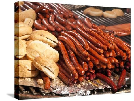 Barbequed Meats at the Stuttgart Beer Festival, Cannstatter Wasen, Stuttgart, Baden-Wurttemberg, Ge-Michael DeFreitas-Stretched Canvas Print