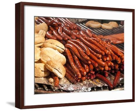 Barbequed Meats at the Stuttgart Beer Festival, Cannstatter Wasen, Stuttgart, Baden-Wurttemberg, Ge-Michael DeFreitas-Framed Art Print