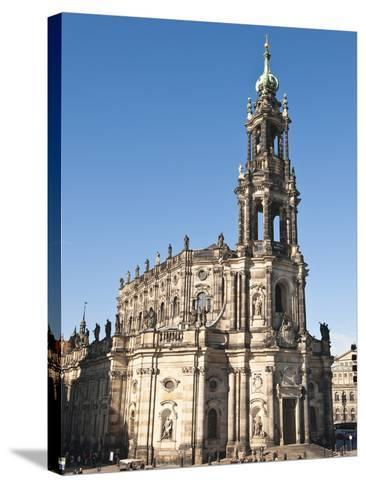 The Hofkirche (Church of the Court), Dresden, Saxony, Germany, Europe-Michael DeFreitas-Stretched Canvas Print