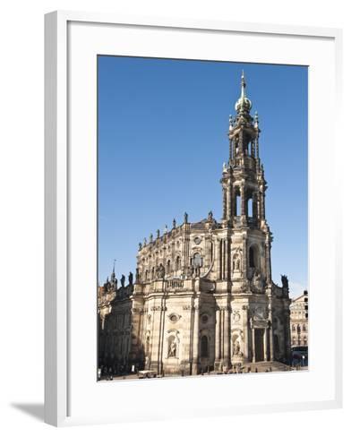 The Hofkirche (Church of the Court), Dresden, Saxony, Germany, Europe-Michael DeFreitas-Framed Art Print