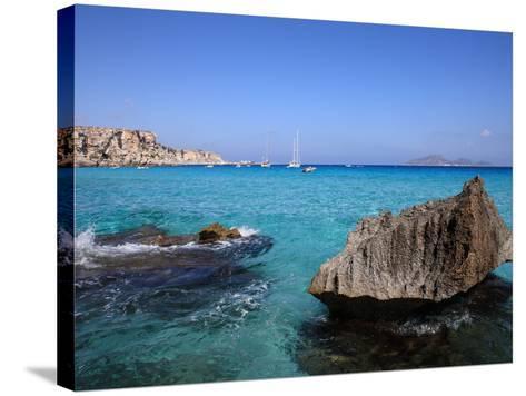 Cala Rossa, Trapani, Favignana Island, Sicily, Italy, Mediterranean, Europe-Vincenzo Lombardo-Stretched Canvas Print