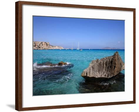 Cala Rossa, Trapani, Favignana Island, Sicily, Italy, Mediterranean, Europe-Vincenzo Lombardo-Framed Art Print