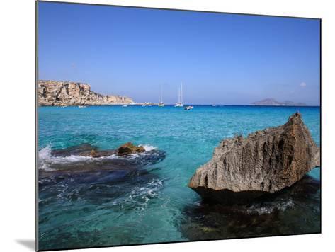 Cala Rossa, Trapani, Favignana Island, Sicily, Italy, Mediterranean, Europe-Vincenzo Lombardo-Mounted Photographic Print