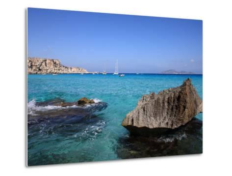 Cala Rossa, Trapani, Favignana Island, Sicily, Italy, Mediterranean, Europe-Vincenzo Lombardo-Metal Print