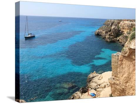Cliff, Favignana, Sicily, Italy, Mediterranean, Europe-Vincenzo Lombardo-Stretched Canvas Print