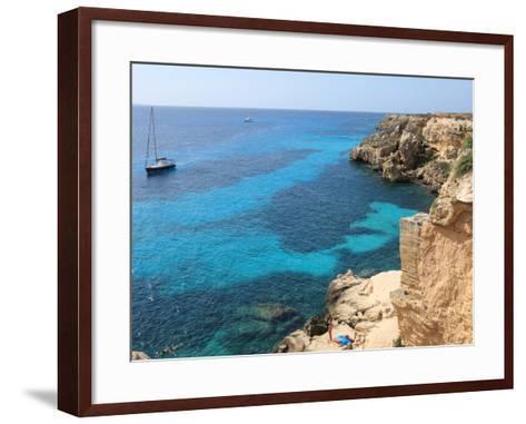 Cliff, Favignana, Sicily, Italy, Mediterranean, Europe-Vincenzo Lombardo-Framed Art Print