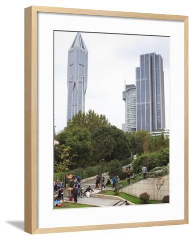 People's Square, Shanghai, China, Asia-Amanda Hall-Framed Art Print