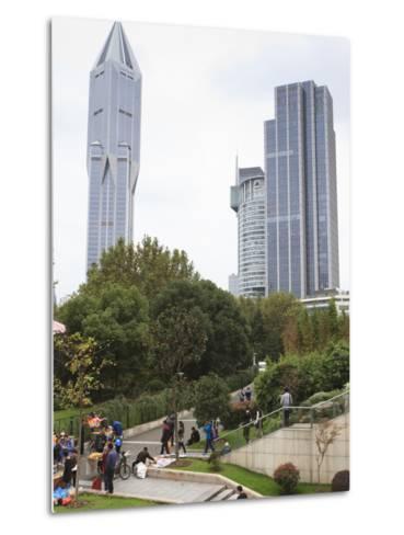 People's Square, Shanghai, China, Asia-Amanda Hall-Metal Print