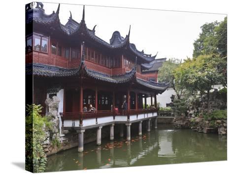 Yanshan Hall, Yu Yuan (Yuyuan) Gardens, Shanghai, China, Asia-Amanda Hall-Stretched Canvas Print