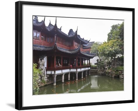 Yanshan Hall, Yu Yuan (Yuyuan) Gardens, Shanghai, China, Asia-Amanda Hall-Framed Art Print