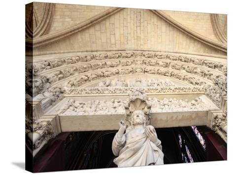 Jesus, Front Portal of Upper Chapel, Sainte-Chapelle, Paris, France, Europe-Godong-Stretched Canvas Print