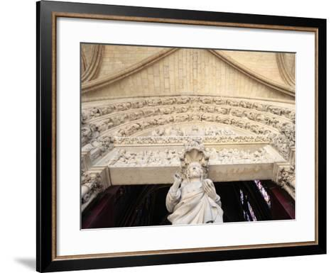 Jesus, Front Portal of Upper Chapel, Sainte-Chapelle, Paris, France, Europe-Godong-Framed Art Print