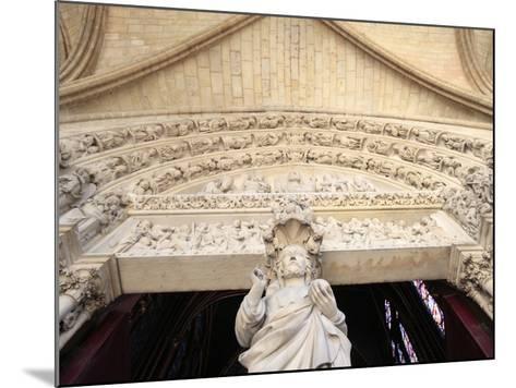 Jesus, Front Portal of Upper Chapel, Sainte-Chapelle, Paris, France, Europe-Godong-Mounted Photographic Print