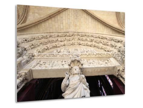 Jesus, Front Portal of Upper Chapel, Sainte-Chapelle, Paris, France, Europe-Godong-Metal Print