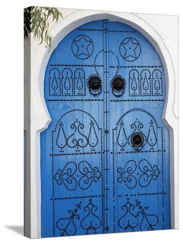 Door in Sidi Bou Said, Tunisia, North Africa, Africa-Godong-Stretched Canvas Print