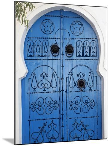 Door in Sidi Bou Said, Tunisia, North Africa, Africa-Godong-Mounted Photographic Print