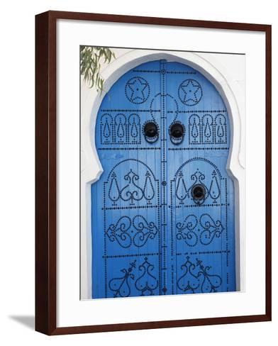 Door in Sidi Bou Said, Tunisia, North Africa, Africa-Godong-Framed Art Print