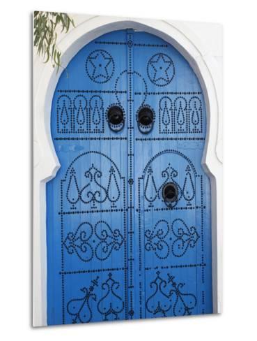 Door in Sidi Bou Said, Tunisia, North Africa, Africa-Godong-Metal Print