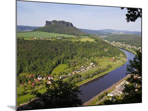 View over the River Elbe, Saxon Switzerland, Saxony, Germany, Europe-Michael Runkel-Mounted Photographic Print
