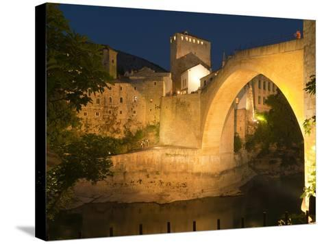 Stari Most (Old Bridge), UNESCO World Heritage Site, Mostar, Municipality of Mostar, Bosnia and Her-Emanuele Ciccomartino-Stretched Canvas Print