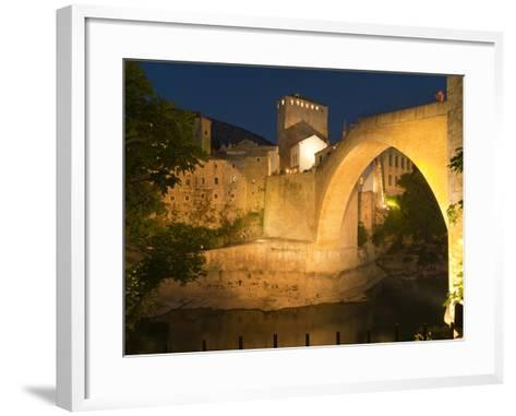 Stari Most (Old Bridge), UNESCO World Heritage Site, Mostar, Municipality of Mostar, Bosnia and Her-Emanuele Ciccomartino-Framed Art Print