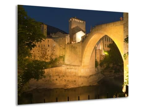 Stari Most (Old Bridge), UNESCO World Heritage Site, Mostar, Municipality of Mostar, Bosnia and Her-Emanuele Ciccomartino-Metal Print