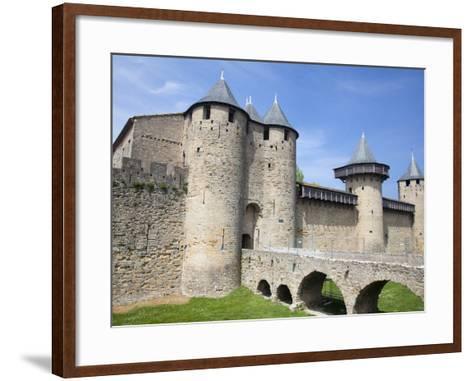 The Chateau Comtal Inside La Cite, Carcassonne, UNESCO World Heritage Site, Languedoc-Roussillon, F-David Clapp-Framed Art Print