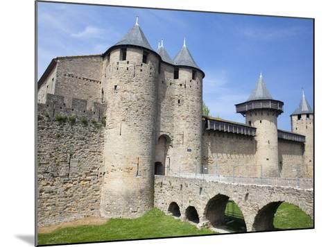 The Chateau Comtal Inside La Cite, Carcassonne, UNESCO World Heritage Site, Languedoc-Roussillon, F-David Clapp-Mounted Photographic Print
