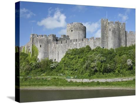 Pembroke Castle in Pembroke, Pembrokeshire, Wales, United Kingdom, Europe-David Clapp-Stretched Canvas Print
