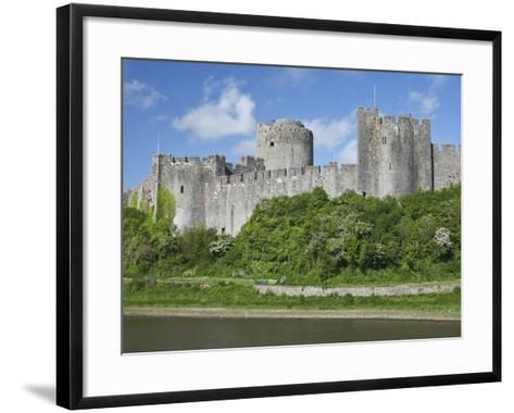 Pembroke Castle in Pembroke, Pembrokeshire, Wales, United Kingdom, Europe-David Clapp-Framed Art Print