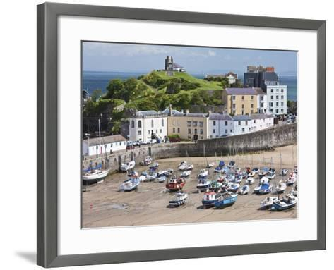 Tenby Harbour, Tenby, Pembrokeshire, Wales, United Kingdom, Europe-David Clapp-Framed Art Print