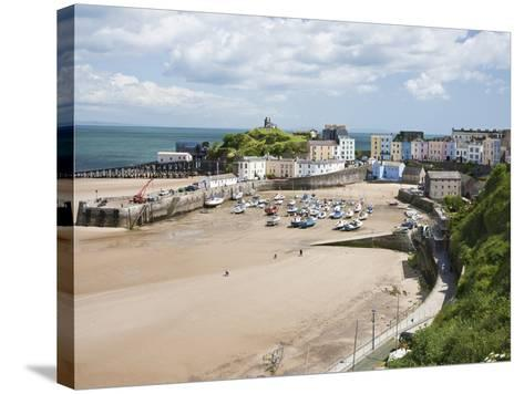 Tenby Harbour, Tenby, Pembrokeshire, Wales, United Kingdom, Europe-David Clapp-Stretched Canvas Print
